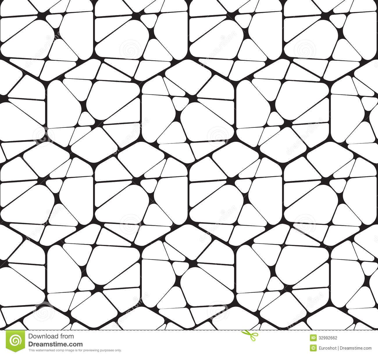 Abstract Geometric Pattern Black White