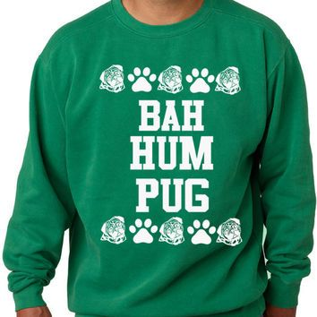 Youth Bah Hum Pug Ugly Christmas Sweater Sweatshirt Pug Sweater ...