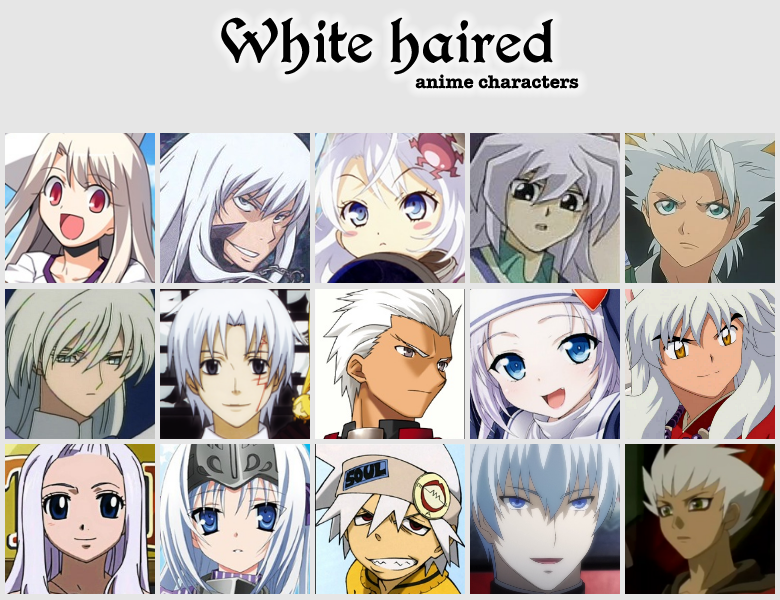 White Haired Anime Characters By Jonatan7 On Deviantart Anime Anime Smile Anime Hair Color