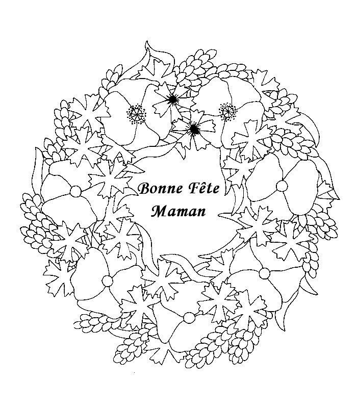 mandala fleurs f te des m res coloriages pinterest. Black Bedroom Furniture Sets. Home Design Ideas
