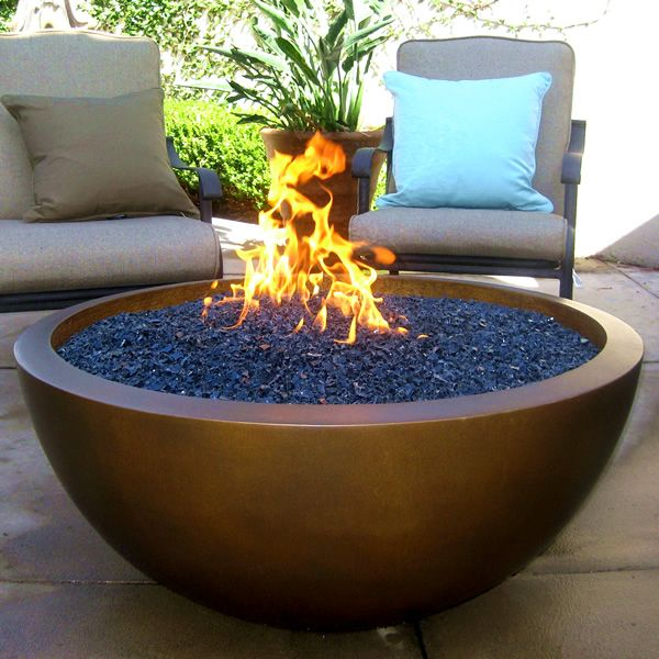 42 Quot Legacy Natural Gas Fire Pit Manual Ignition Concrete