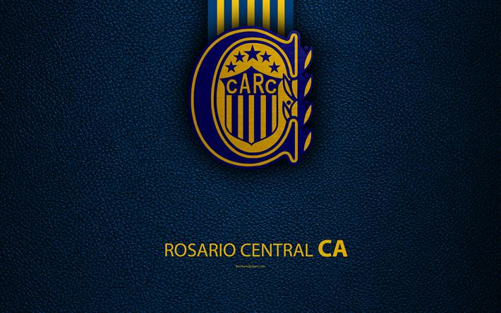 Download Wallpapers Club Atletico Rosario Central 4k Logo Rosario