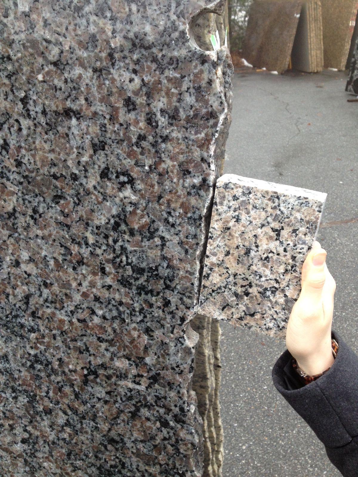 New Caledonia Granite Slab Kitchen Pinterest
