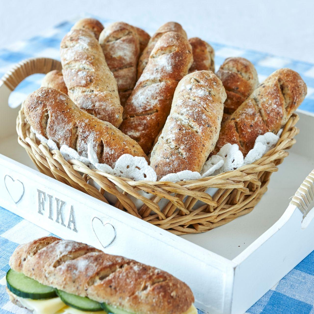 kalljästa baguetter frallor eller bröd recept