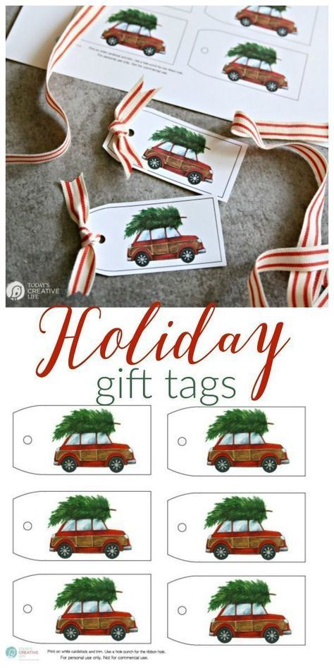 Free Holiday Gift Tags Geschenkverpackung | Geschenkanhänger | Free Printable Holiday Gift Tags | DIY...  #Free #Gift #Holiday
