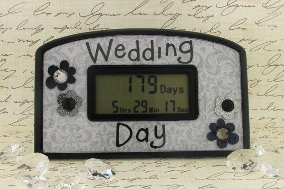 Cute Countdown Clock To A Wedding Day