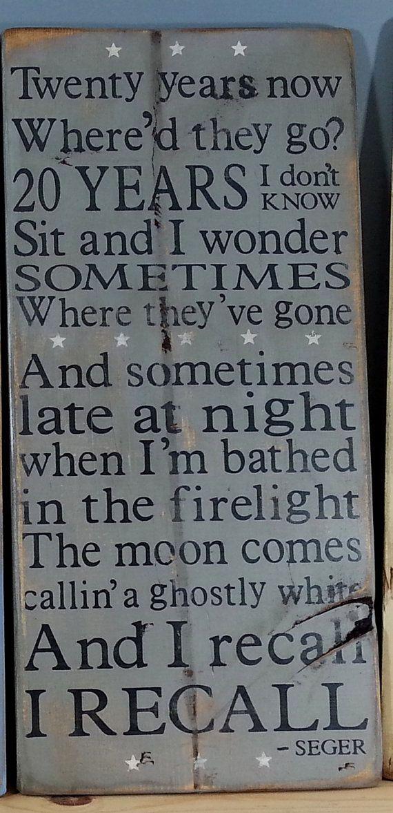 Bob Seger -Like a Rock lyrics -