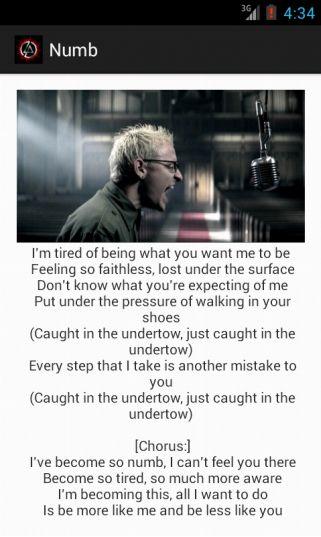 Numb lyrics -  Linkin Park
