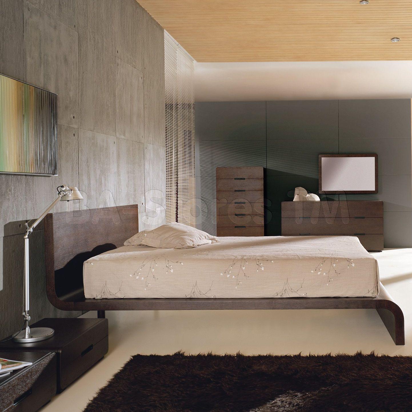 Cosmo 5 Pcs Bedroom Set In Wenge Bed 2 Nightstands Dresser And Mirror Beverly Hills Furniture Inc