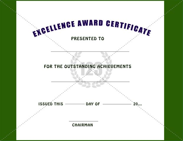 Excellence Award Certificate Template Free And Premium