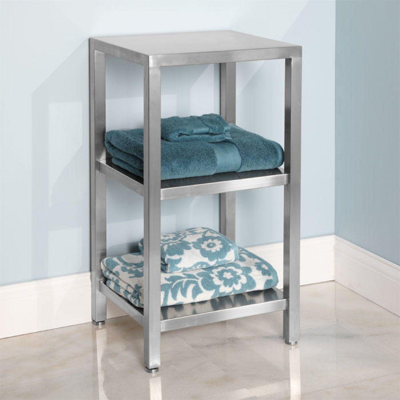 Three Tier Stainless Steel Towel Shelf | Towel shelf, Bathroom ...