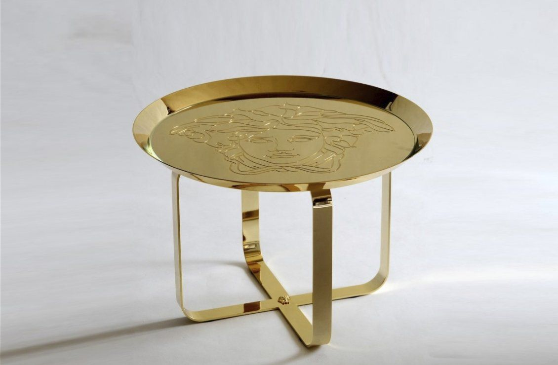 Versace Home Unique Gold Side Table Versace  # Muebles Versace