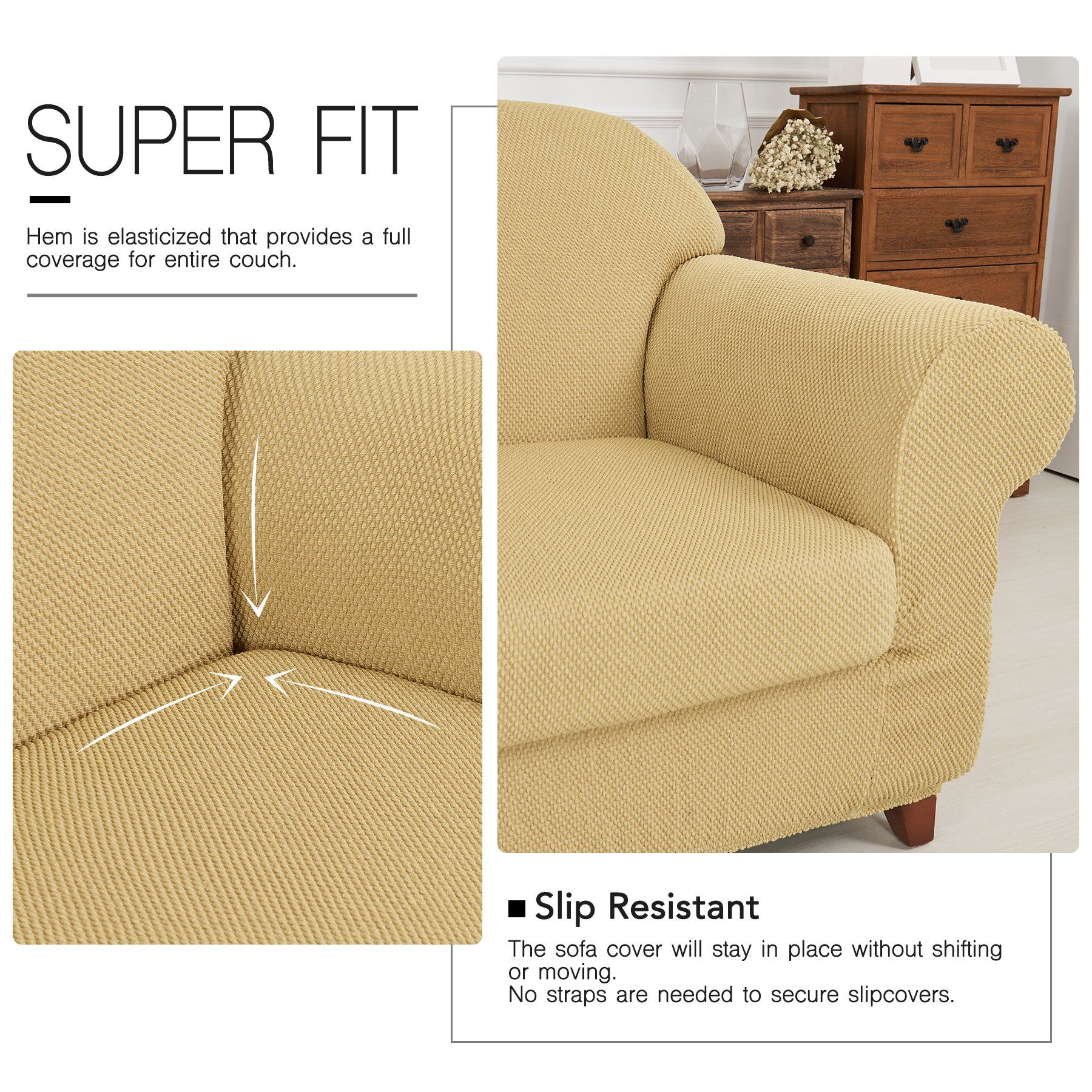 Amazon Recliner Chair Covers Fassbel Jacquard Couch Cover 2piece Stretch Spandex Sofa