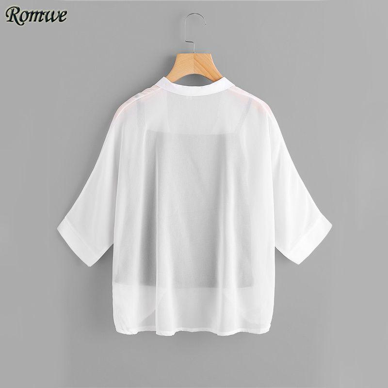 756d8604131 ROMWE Beige Chiffon Shirt Batwing Sleeve Brief Blouse With Cami Tops Women  Fall 2017 Fashion Draped