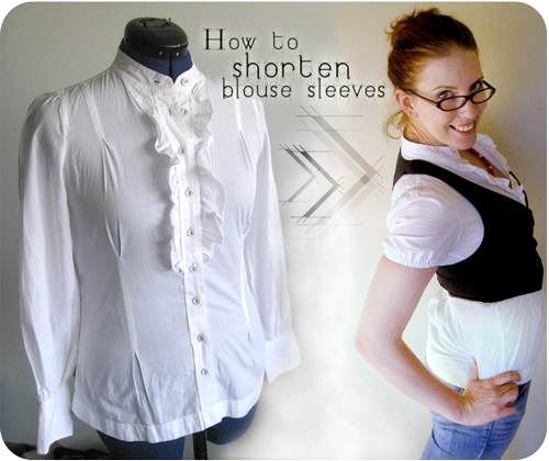 57a1b87c47dd Free sewing tutorial  How to shorten blouse sleeves