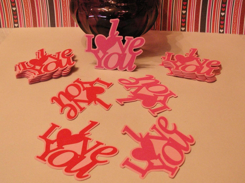 I love you die cuts,paper i love you die cuts,paper layered I love ...