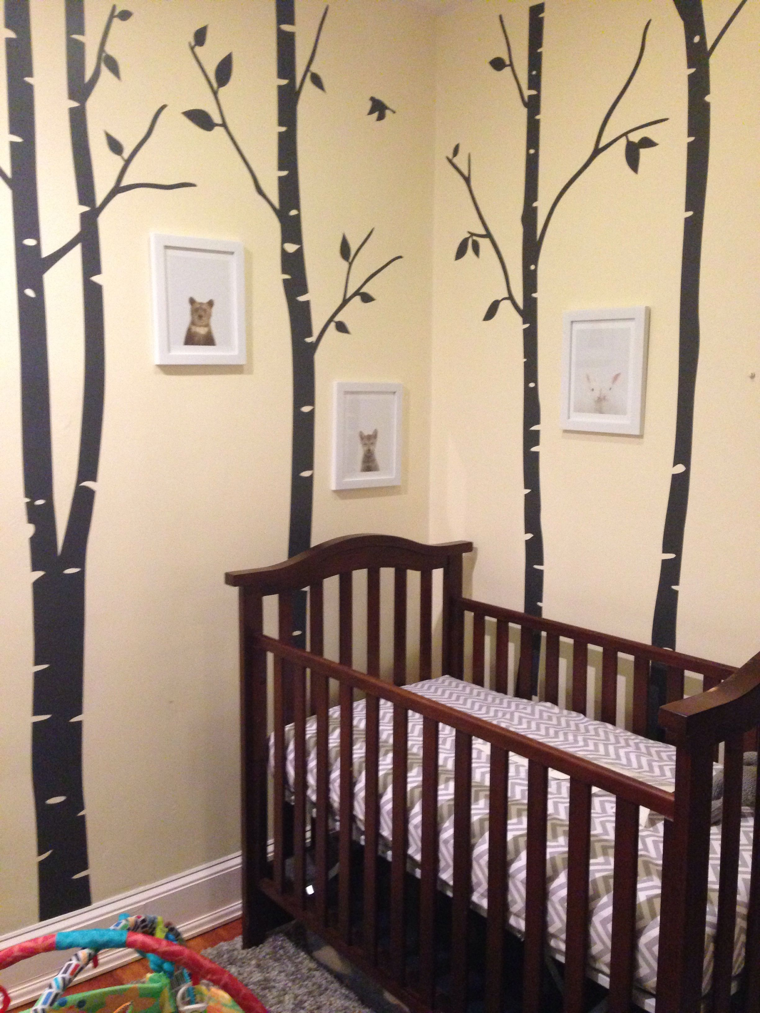 Gray, White, And Yellow Babys Room - Baby Animals In
