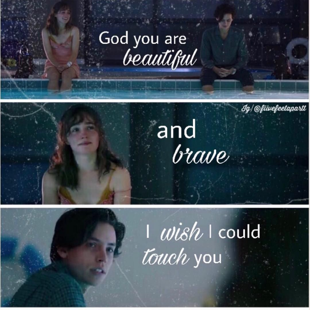 "Fιvᥱ Fᥱᥱt Aρᥲrt🤞🏻|0.600k on Instagram: "". .Hermosa y valiente🌹 . . .Beautiful and brave🌹 . #fivefeetapartfilm #adosmetrosdeti #stellagrant #colesprouse #haleylurichardson…"" - Five Feet Apart -"
