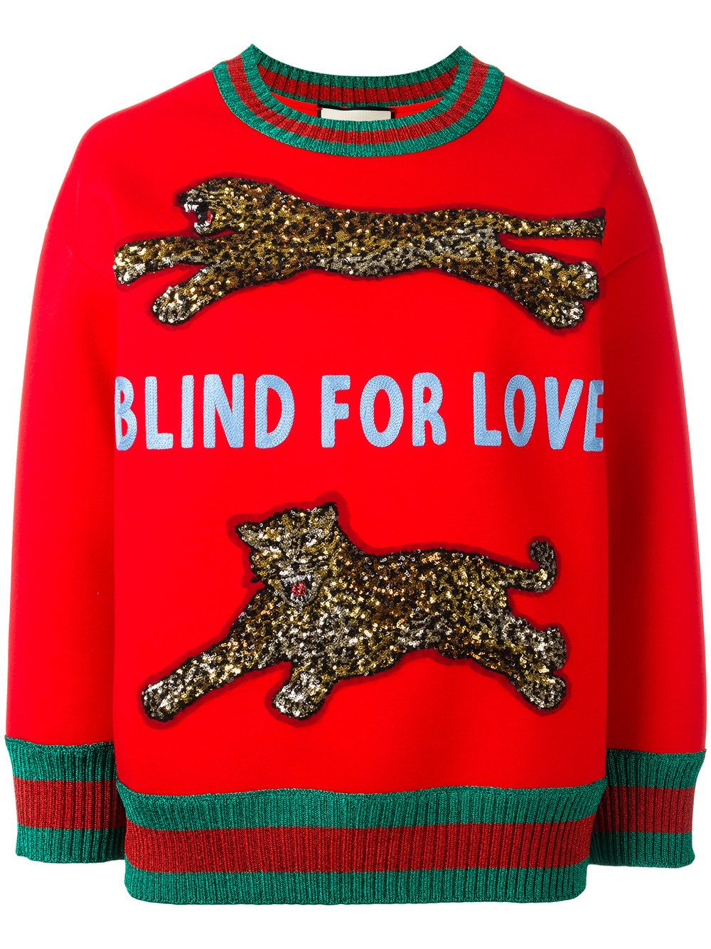 0dcd2ca54c7 Gucci Blind for Love embellished sweatshirt