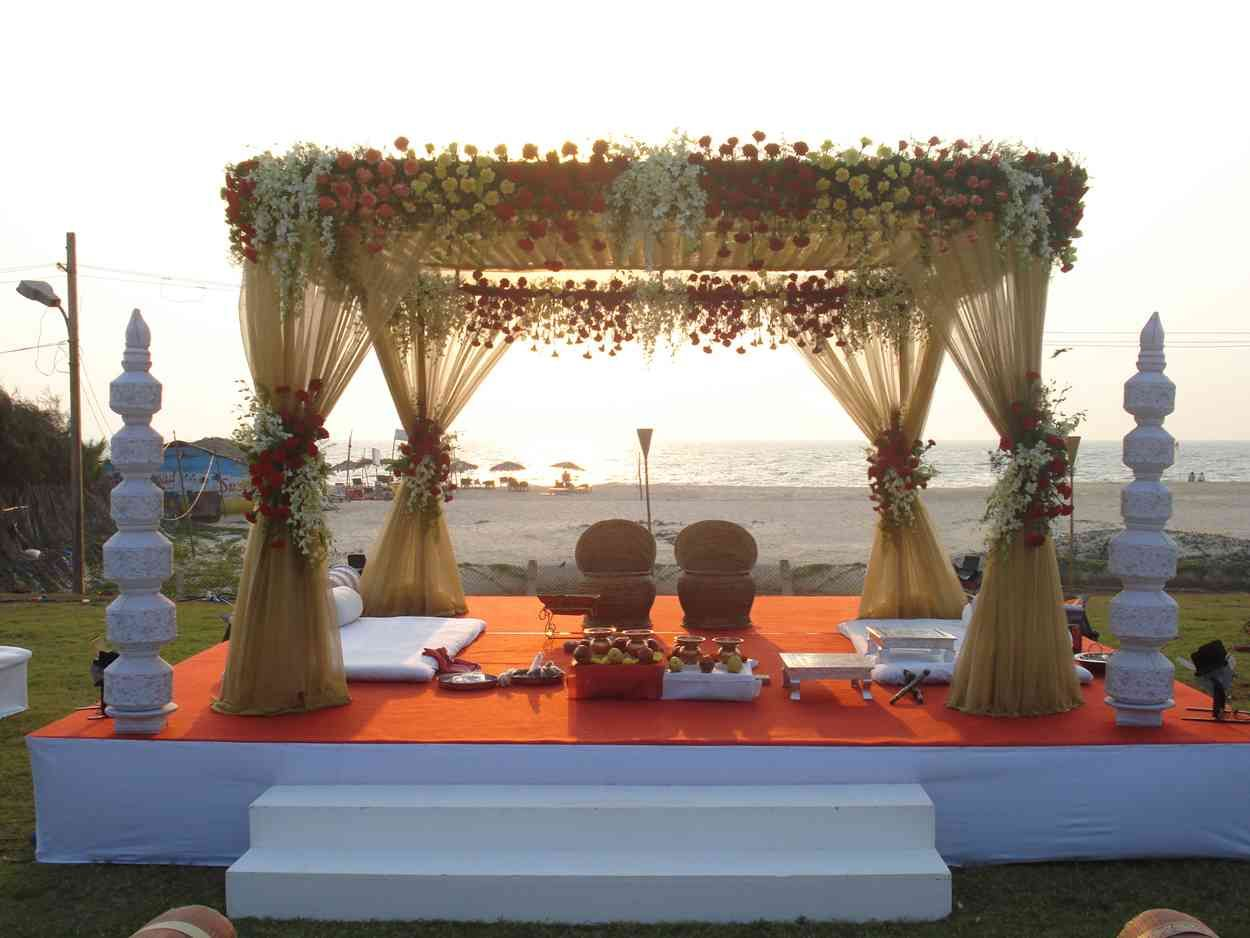 10668409 mandap on the 1 250 938 pixels goa for Wedding planner decoration
