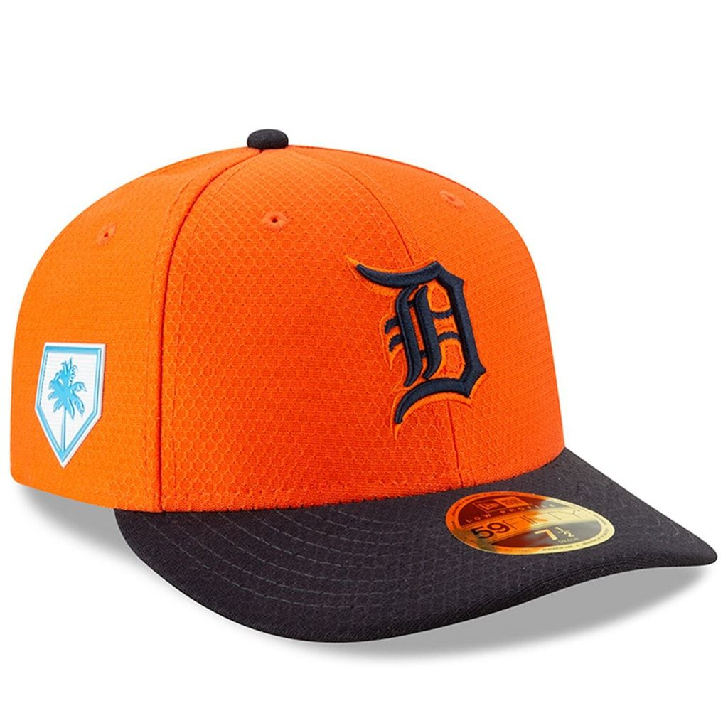 biggest discount the latest best value Men's New Era Orange/Navy Detroit Tigers 2019 Spring Training Low ...
