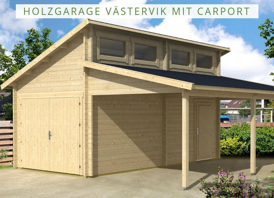 Holzgarage Västervik mit Carport 44 in 2020 Holzgarage