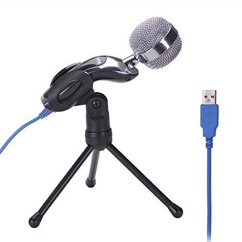 Amazon Com Okeyn Usb Professional Studio Podcast Desktop Condenser Sound Microphone With Stand For Skype Pc Mac Laptop Rec Microphone Pc Laptop Usb Microphone