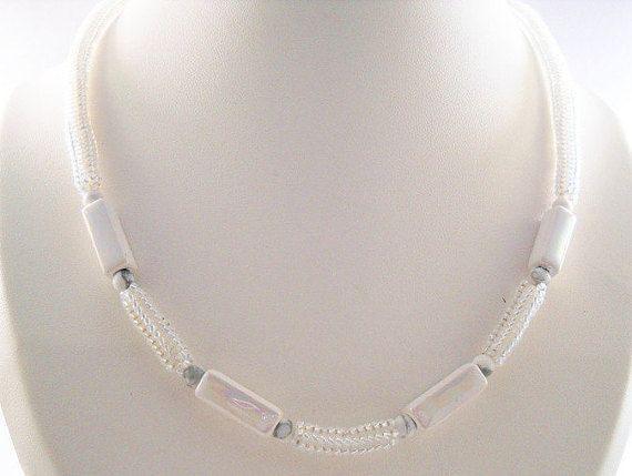 Witte Bruids Juwelen Trouw Kralenwerk Halsketting…