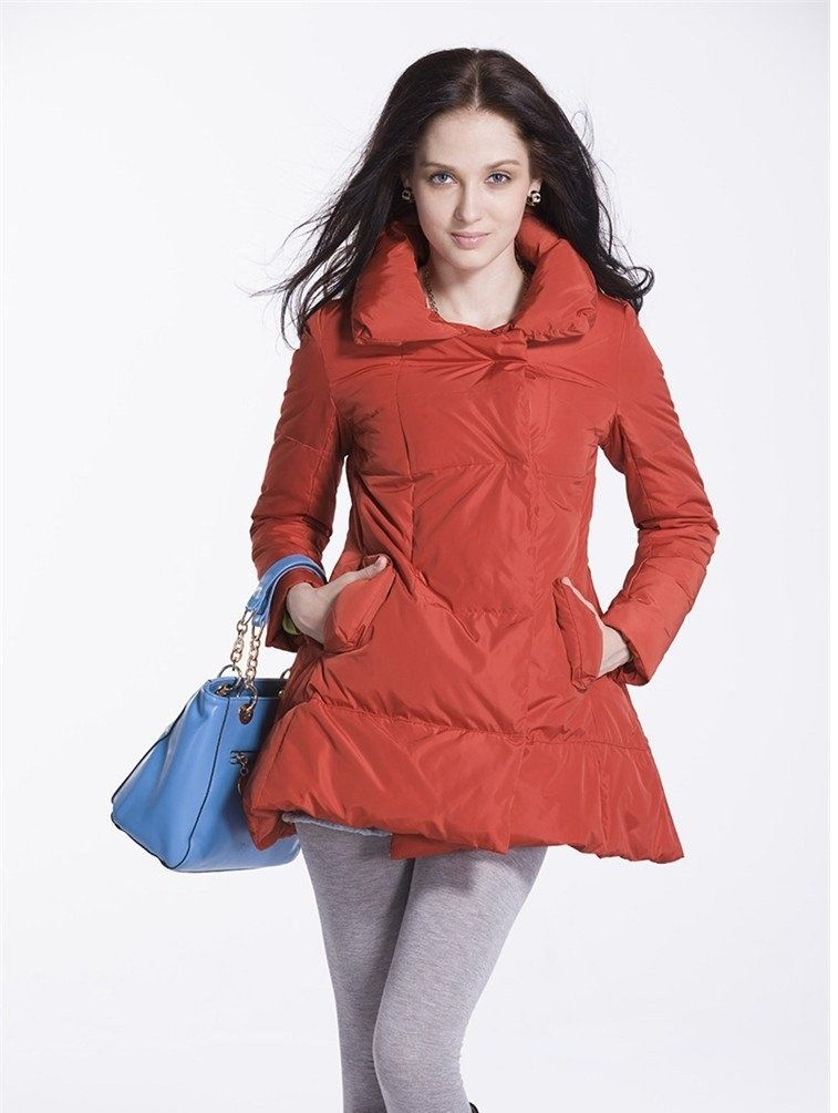 Woman Red Down jacket