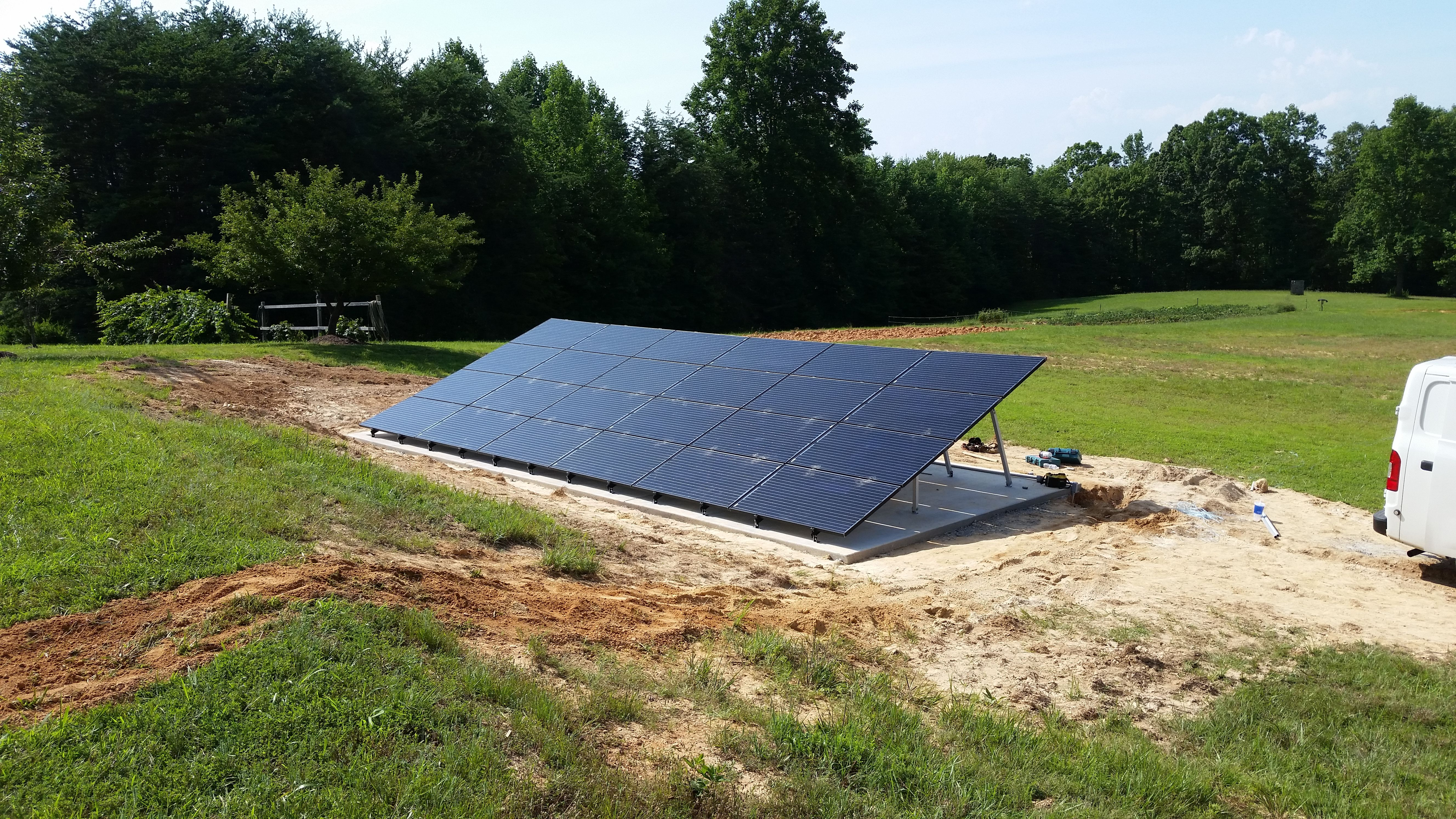 We Recently Finished This Ground Mounted 6 6 Kw Solar System In Reidsville Nc Gosolar Solar Roof Solar Panel Solar Panels