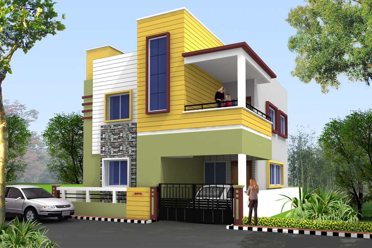 Independent House Elevation Front Sales Corporate Offices Office Spaces Design Yards Exterior Paint Colors