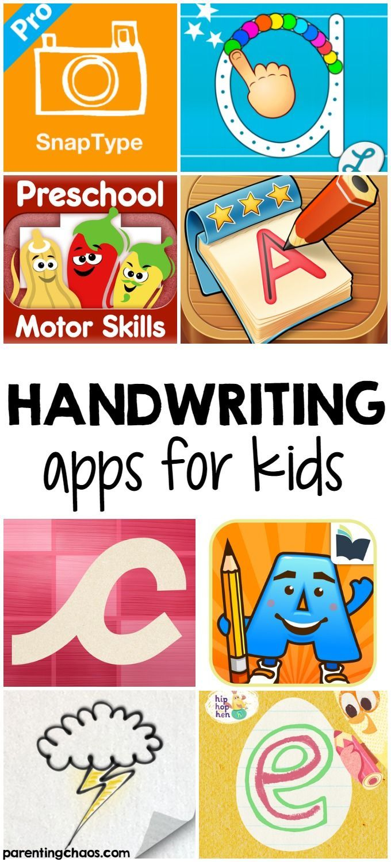 Handwriting Apps for Kids Kids app, Kid friendly apps, Kids