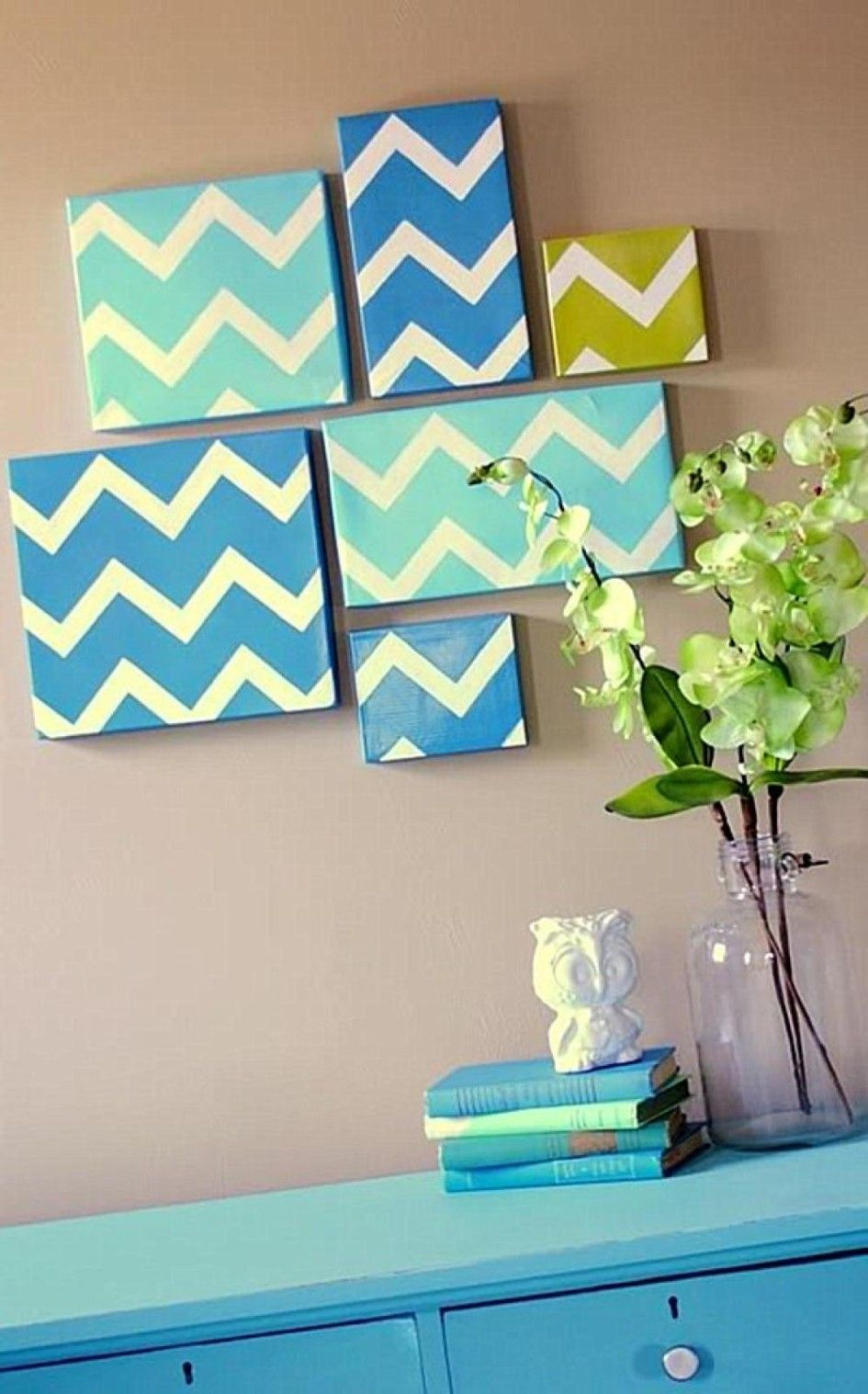 diy modern chevron art home decor wall art ideas