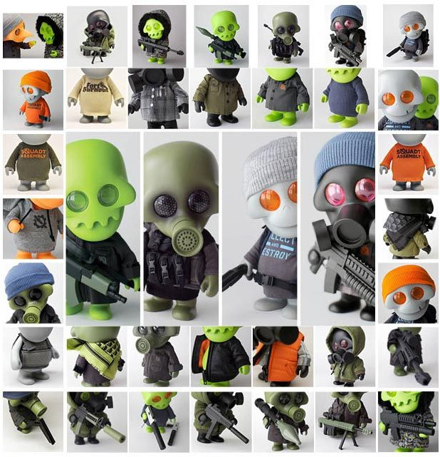 Rotofugi X Ferg Squadt Assembly Pop Up Shop And Exhibition Extras Online Vinyl Art Toys Art Toys Design Art Toy