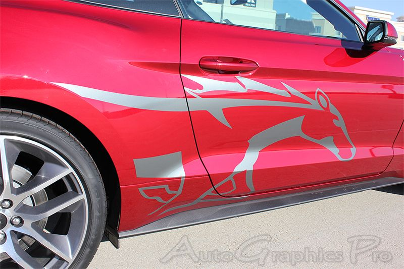 Ford Mustang STEED Pony Style Horse Side Stripes - Decal graphics for cars
