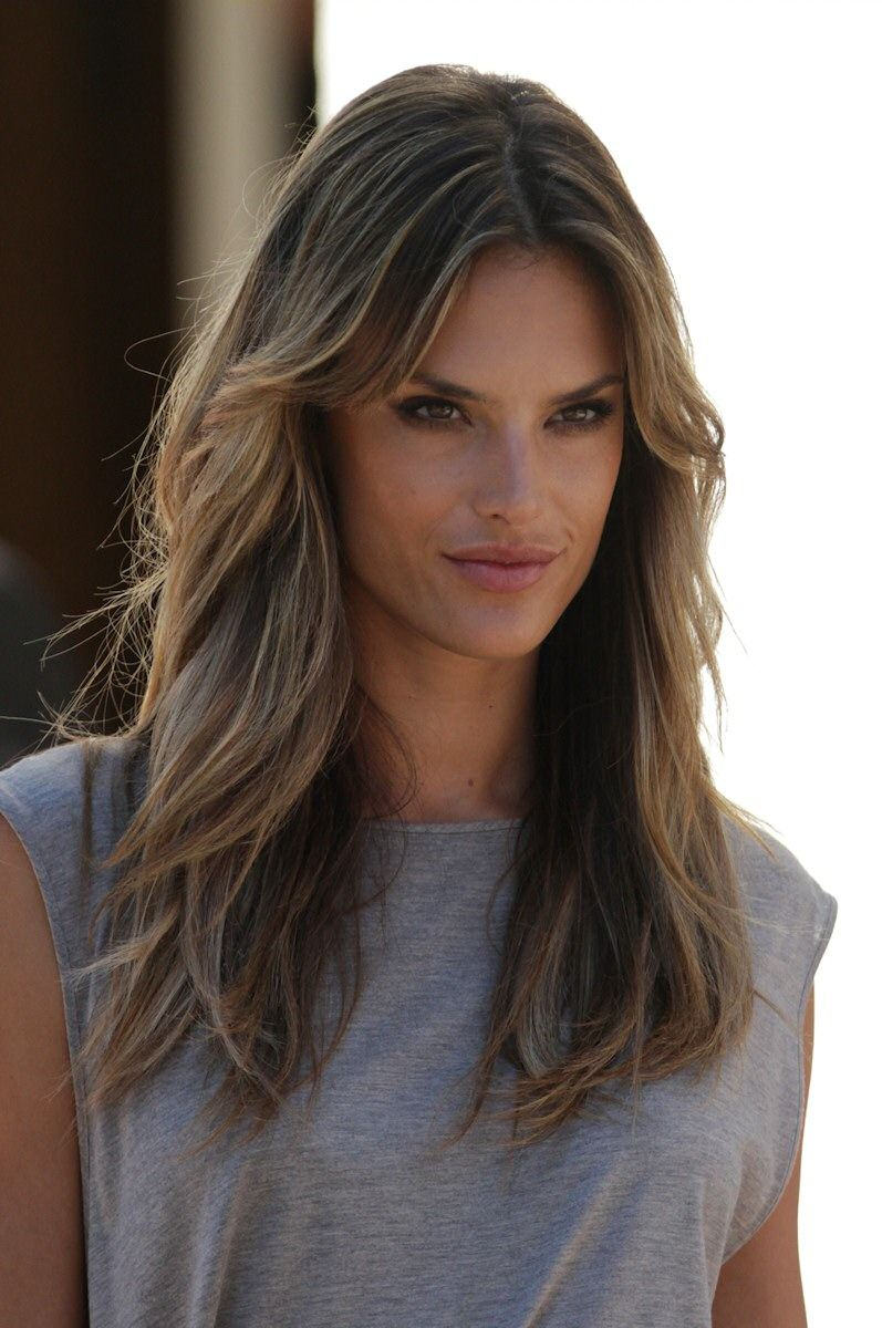 Celebrity Hair Colors Alessandra Ambrosio Pinterest Celebrity