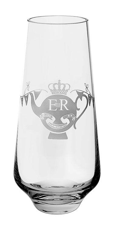 Dartington Crystal Queens 90th Crystal Glass Vase Dartington