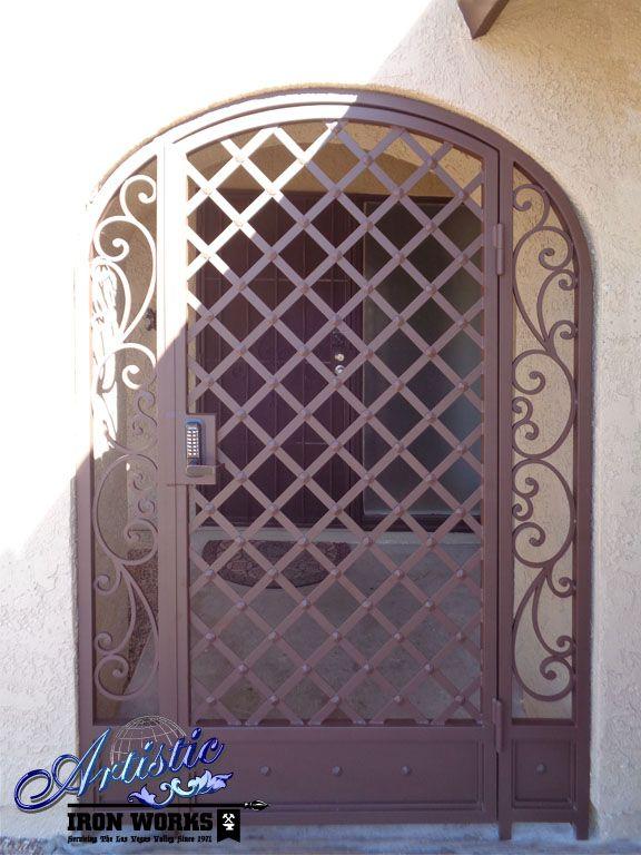 Wrought Iron Entry Gate Wrought Iron Iron Gates Gate Design