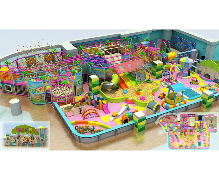 Guangzhou Play Center Kids Commercial Indoor Jungle Gym