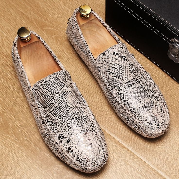 Fashion Men's Shoes Loafers Luxury Brand Design Men Leather Casual Shoes Soft Moccasin Flat M...