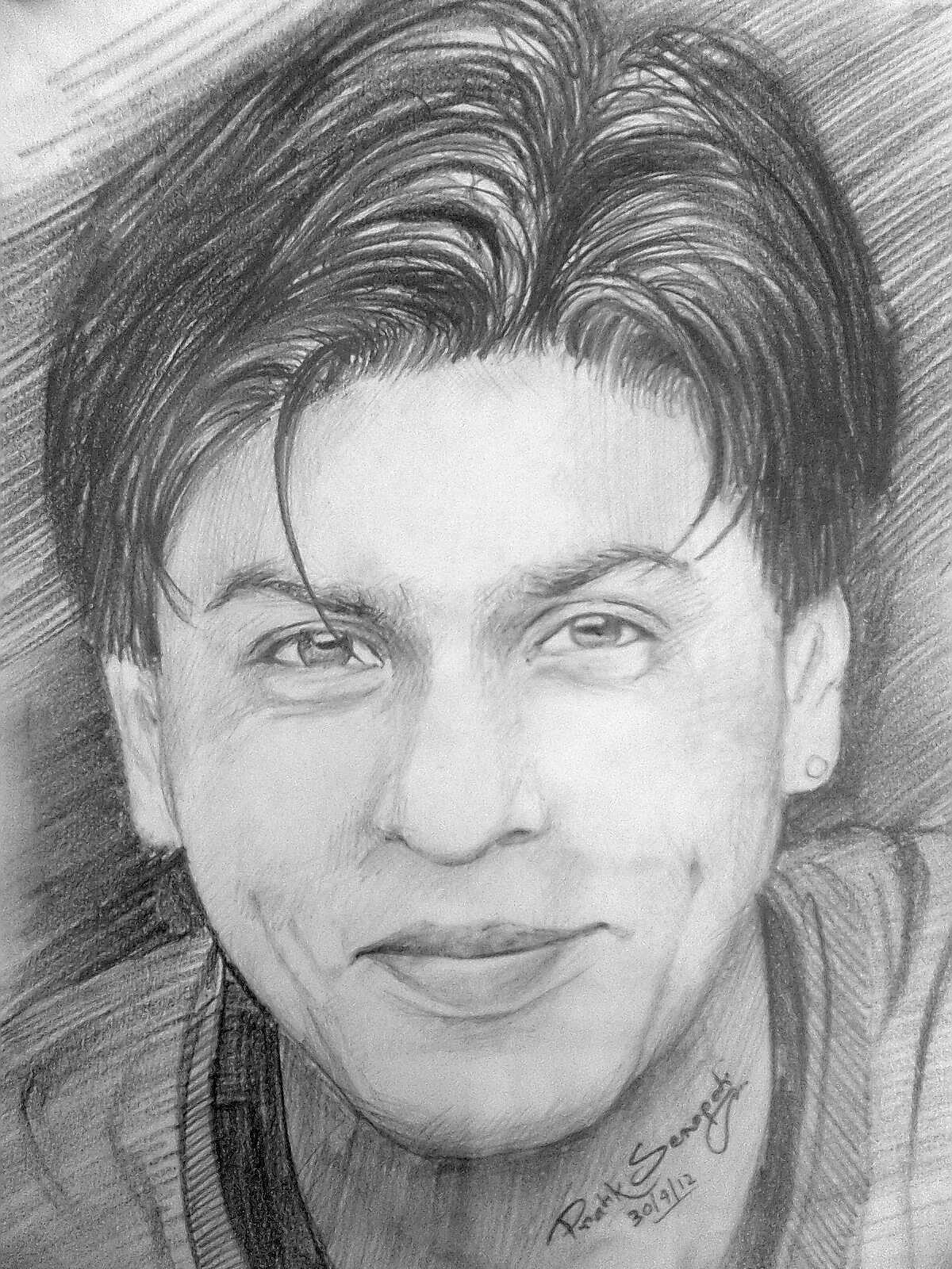 Shahrukh Khan Pencil Drawing