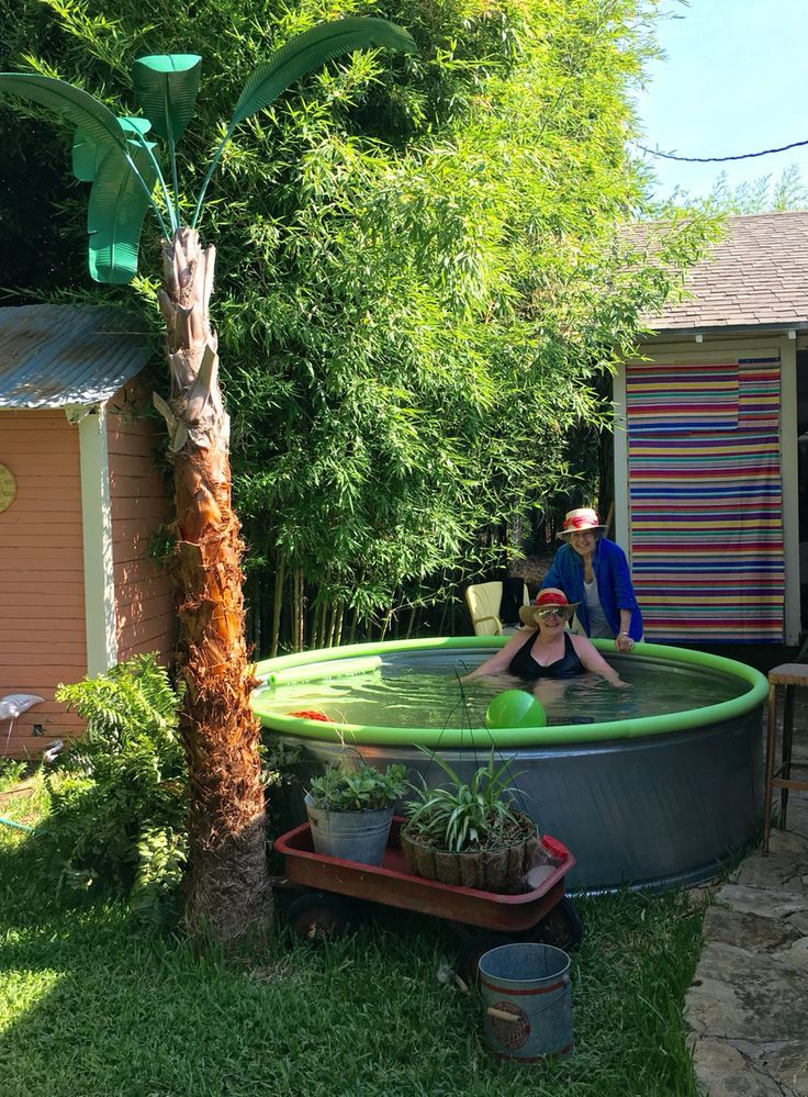 Stock tank Monkey Pool … Stock tank pool diy, Simple
