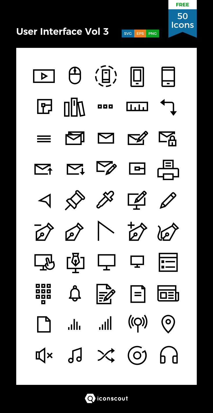 Download User Interface Vol 3 Icon Pack Available In Svg Png Eps Ai Icon Fonts Free Icon Packs User Interface Icon