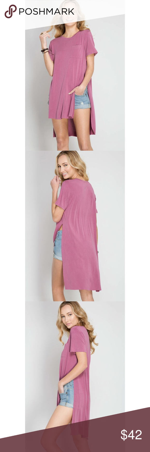 Gotta Have It Hi-Low Slit Top - Mauve We have put the Gotta Have It Hi-Low Slit Top at the top of our must-have list! Stretchy and ultra soft cotton modal mix knit top features a flowy hi-low bodice with high slits on the side.  55% Cotton 45% Modal Knit  (Available in Mauve and Slate) . . . If you would like to make an offer, please use the OFFER BUTTON. {10% discount on all 2+ orders} . . FOLLOW US✌????️ Insta ????: shop.likenarly Facebook????: likenarly Website ????: likeNarly.com likeNarly Tops #gottahaveit