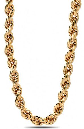 10mm Run Dmc Yellow Gold Rope Dookie Chain By King Ice Get 25 Off Using Repcode Fairmont At Www Karmaloop Com Men Gold Chains For Men Jewelry Modern Jewelry