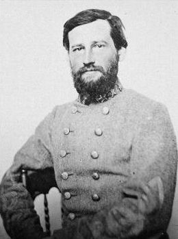 Lt. General Stephen Dill Lee (Sep 22, 1833 – May 28, 1908) was promoted to lieutenant general on June 23, 1864, making Lee the youngest at this grade in the Confederate Army. Following the campaign's Battle of Nashville on December 15–16, Lee kept his troops closed up and well in hand despite the general rout of the rest of the Confederate forces. For 3 consecutive days, they would form the fighting rearguard of the otherwise disintegrated Army of Tennessee.