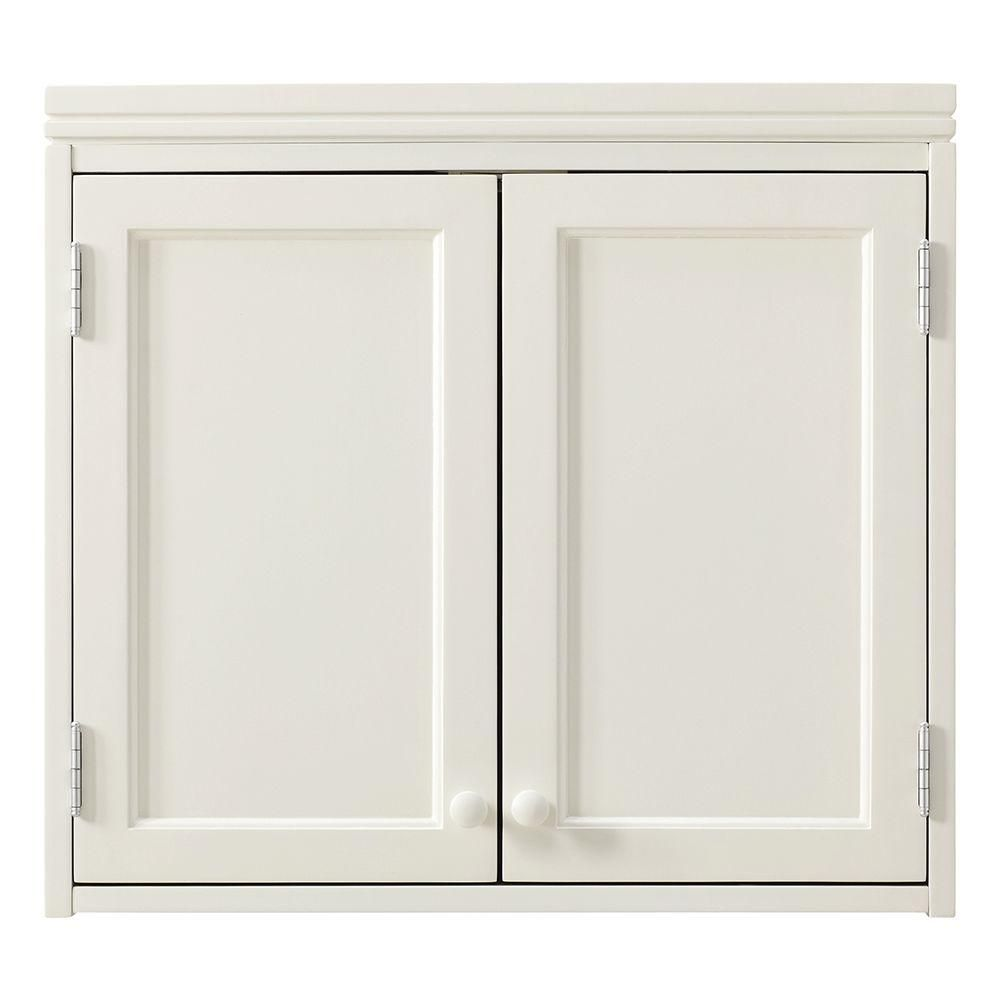 Merveilleux Little Bathroom Martha Stewart Living Laundry Storage 22 In. H X 24 In. W  Wall Cabinet In Picket Fence 1363700410   The Home Depot
