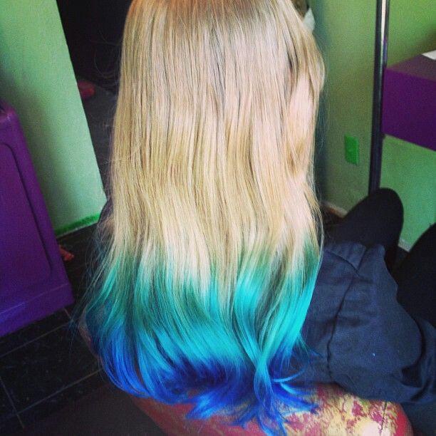 Tip Dyed Hair Blonde Hair With Images Hair Dye Tips Dip Dye