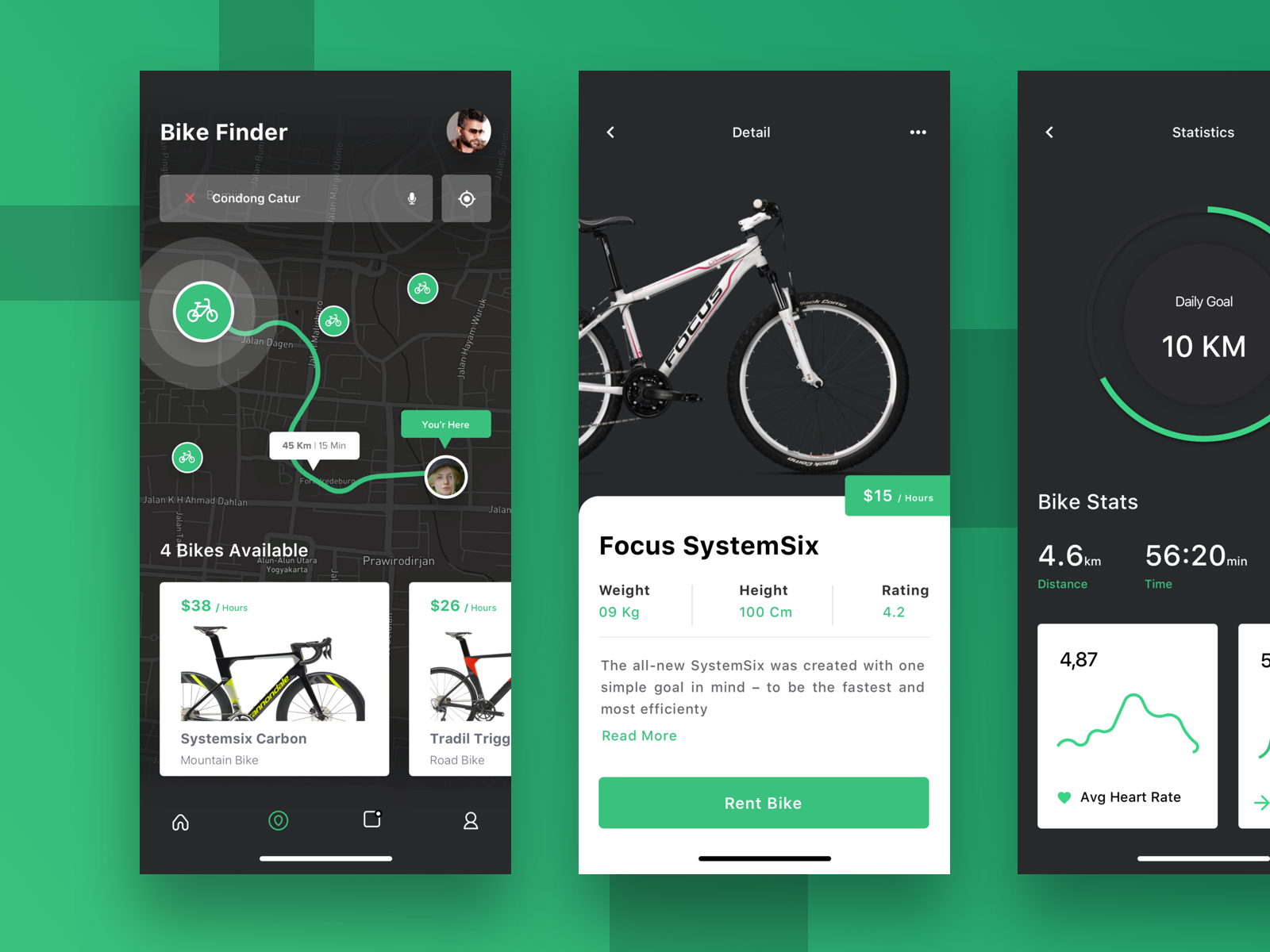 Sharing Bike App Biking Apps Mobile App Inspiration App Design