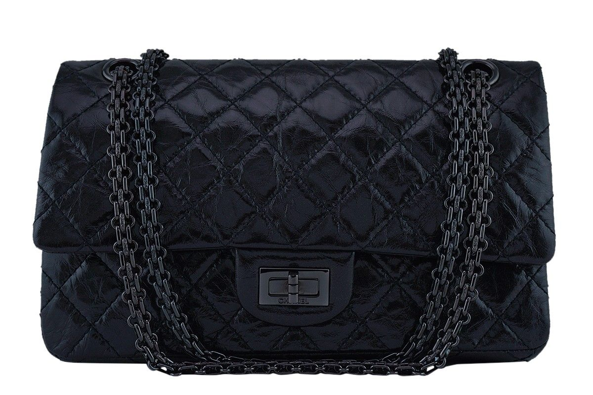 04ba4be372b0 Chanel So Black Classic Reissue 2.55 Double Flap 225 Bag - One of the most  sought-after models within the house of Chanel is the reissue line, ...